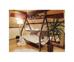 Hausbett Ohne Barriere TIPI 7 Natural Kinderbett 200 x 80 cm